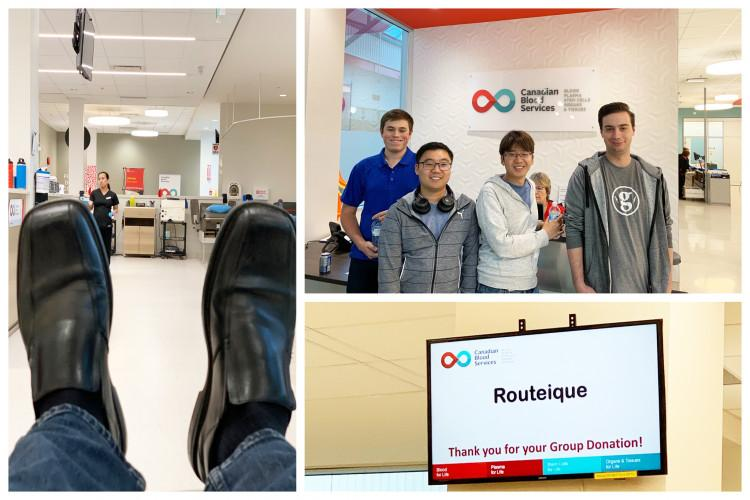 Routeique team at blood drive in September 2019