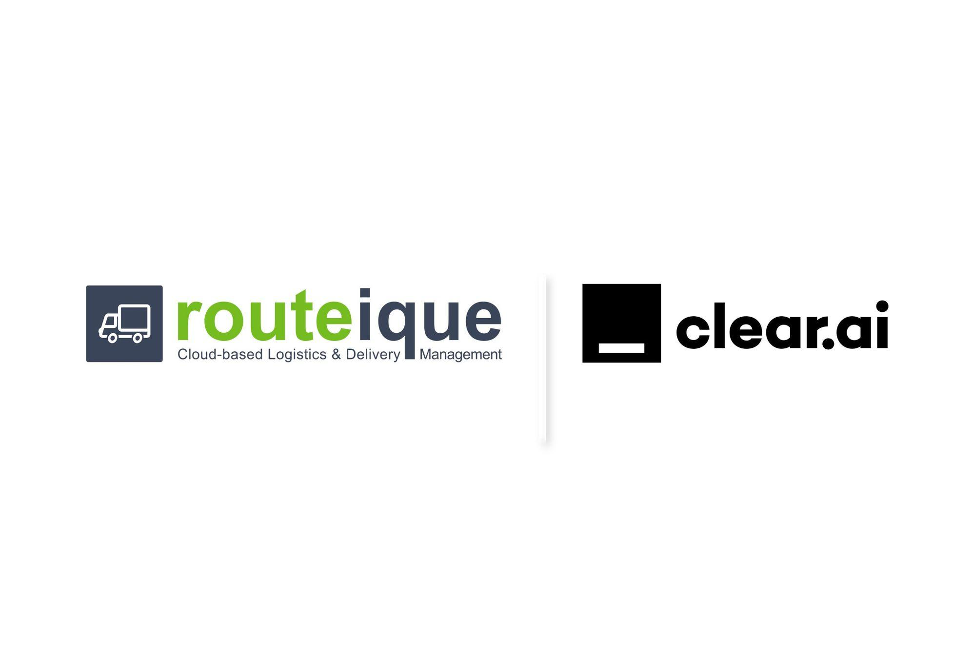Routeique and Clear AI logos