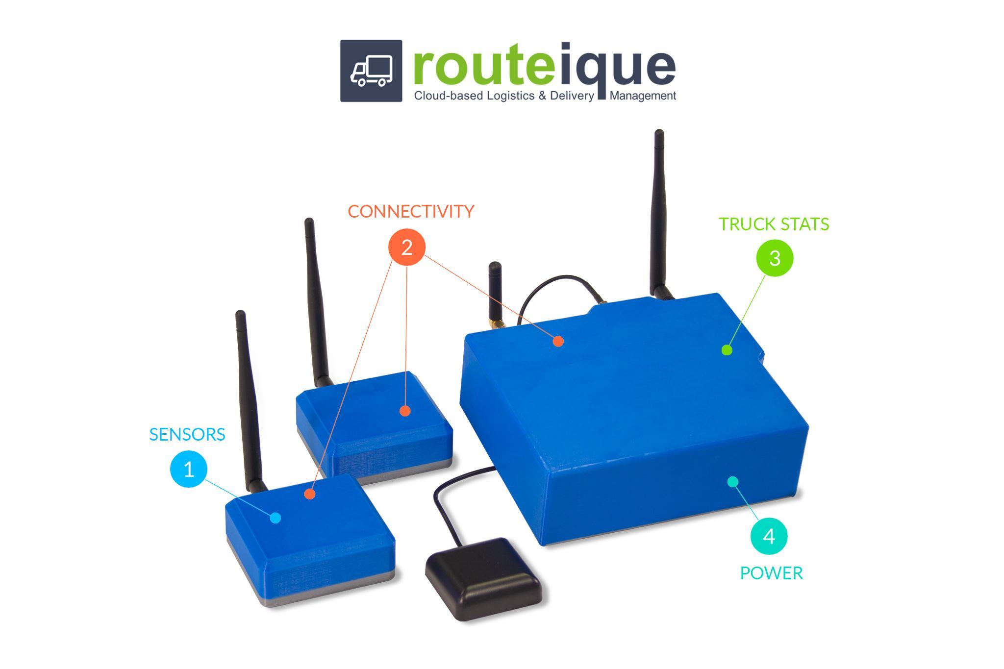 Routeique Vehicle Brain components