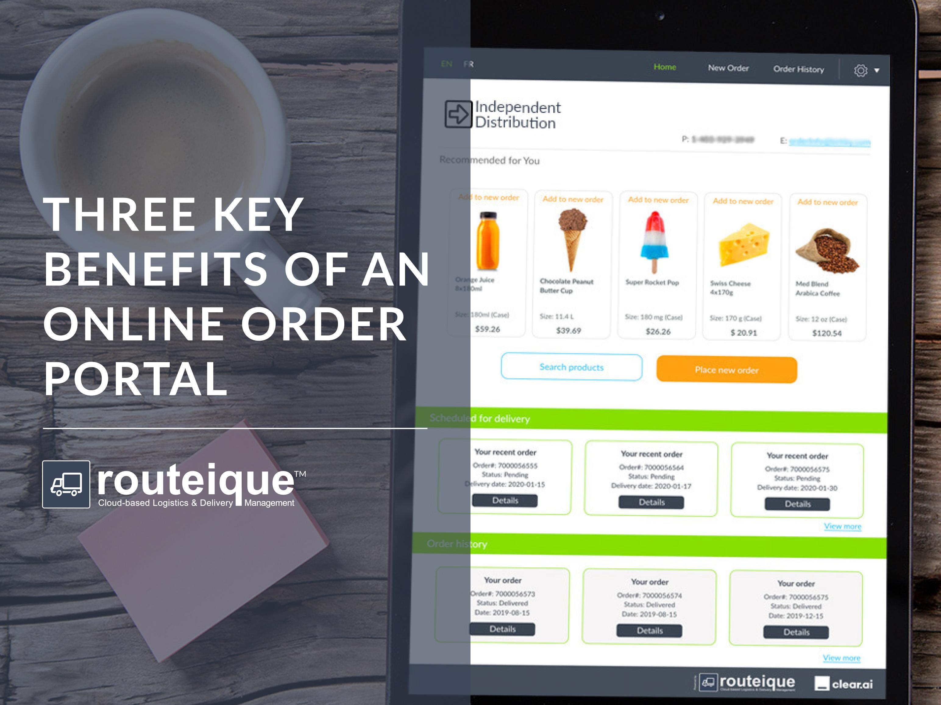 Routeique Blog Key Benefits to an Online Order Portal