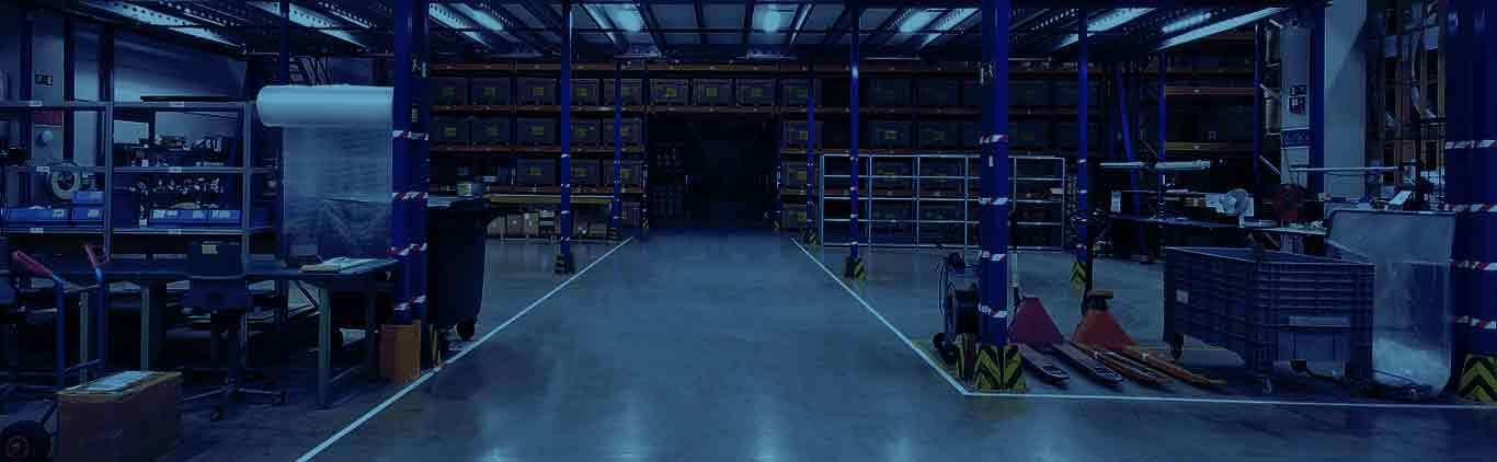 Page banner of warehouse, showing concept of 3PL page
