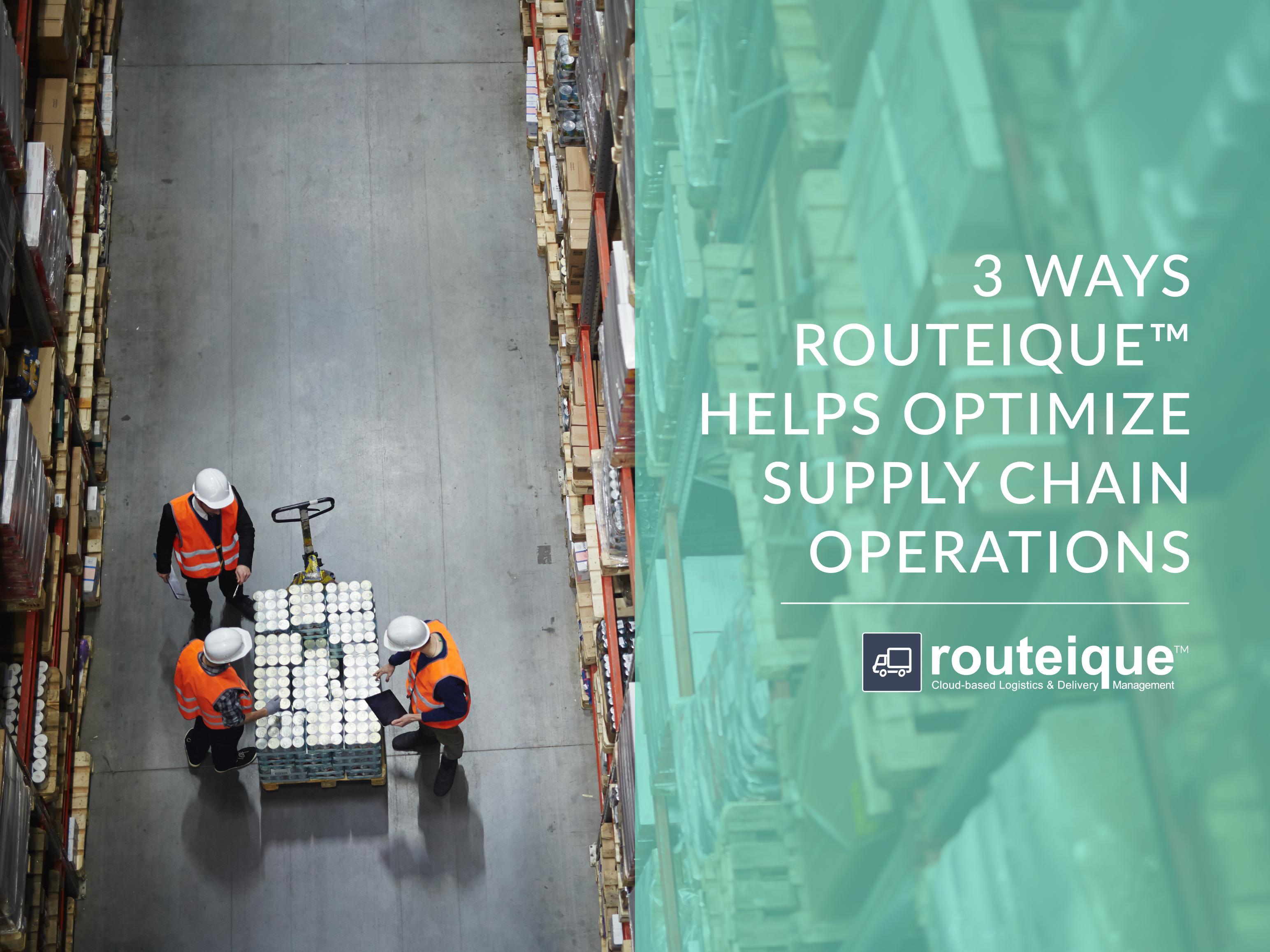 Routeique Warehouse Optimization