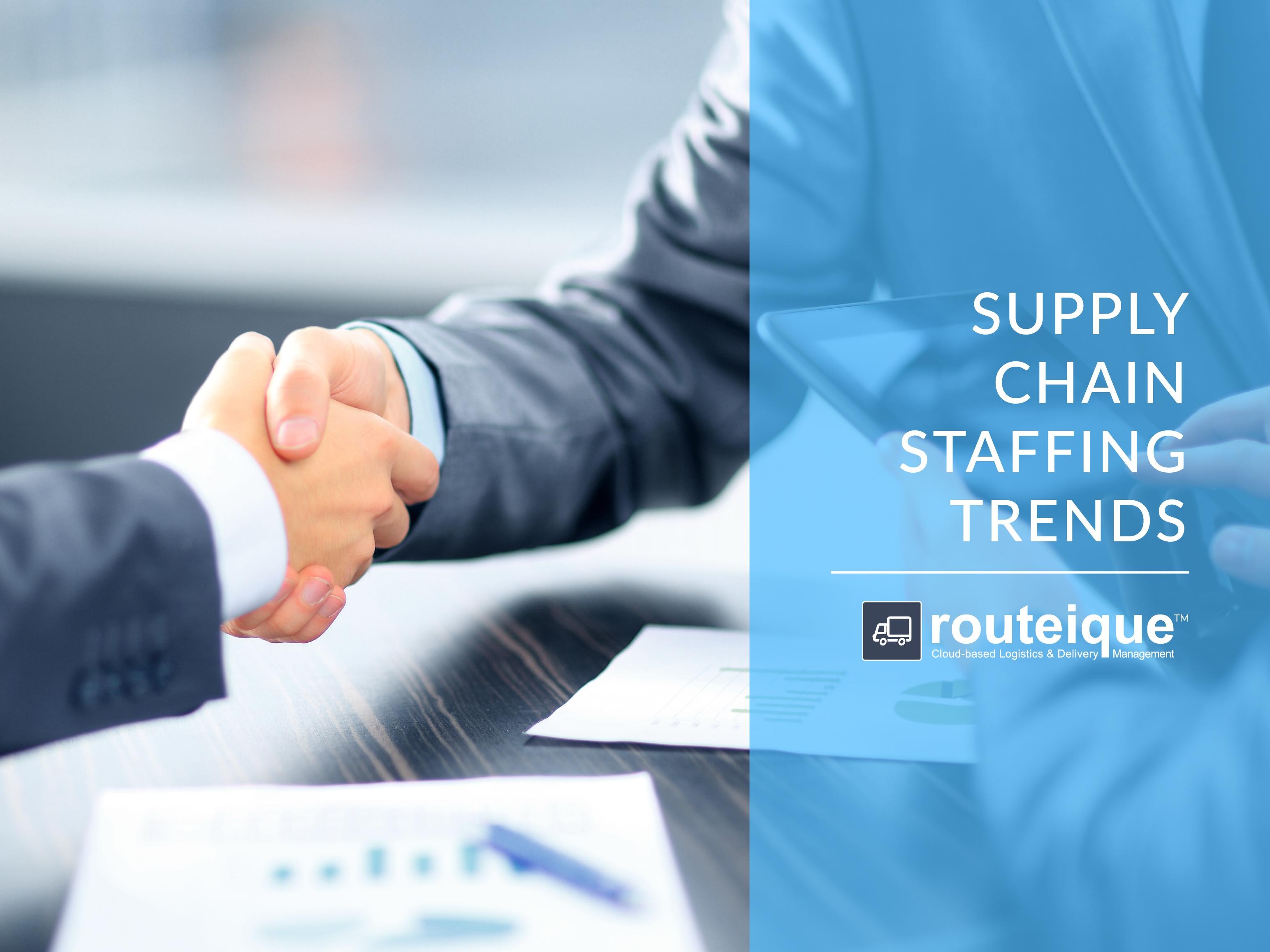 Routeique Supply Chain Staffing Trends Blog Banner Image