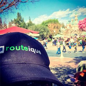 Routeique hat at Disneyland.
