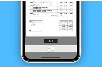 Routeique Driver Management System App Invoice Page