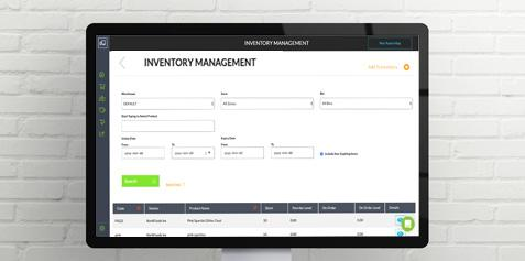 The Routeique Inventory Management window shown on a desktop screen