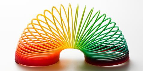 Rainbow slinky.
